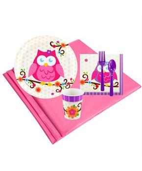 Girls Owl Blossum 8 Guest Party Pack