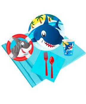 Boys Sharks 16 Guest Party Pack