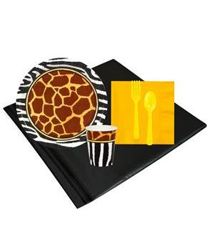 Boys Safari Animal Adverture 8 Guest Party Pack