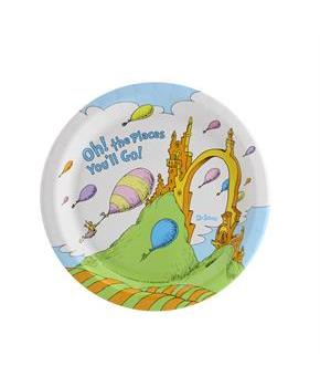 Dr. Seuss Oh The Places You'll Go Dessert Plate