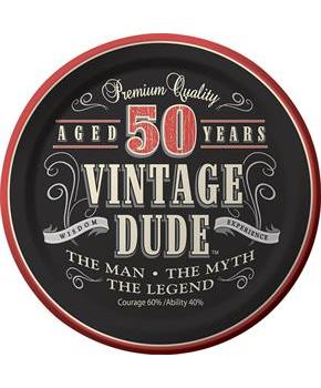 Vintage Dude 50th Cake Plates 7 (8)
