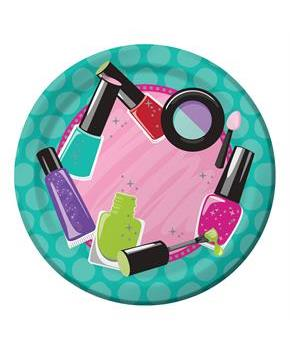 "Spa Party 7"" Cake Plates (8)"