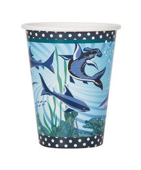 Shark Party 9oz Cups (8)