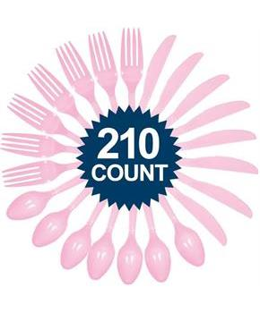Pink Cutlery Set - Value Pack (210)