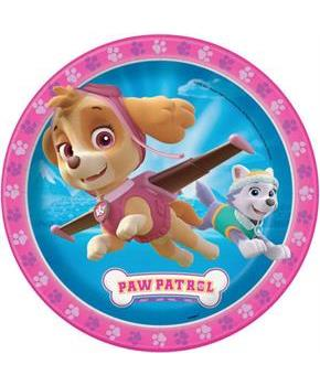 "Paw Patrol Pink 9"" Lunch Plate (8)"