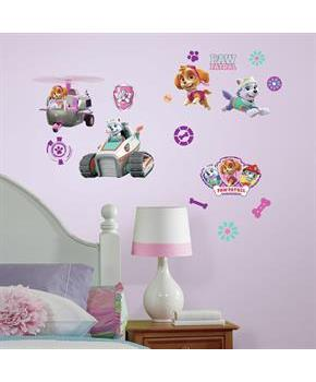 Paw Patrol Girl Pups Peel And Stick Wall