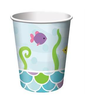 Mermaid Friends 9 Oz Cups (8)