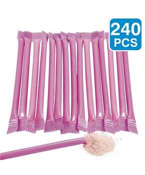 Hot Pink Candy Filled 6 Straws (240)