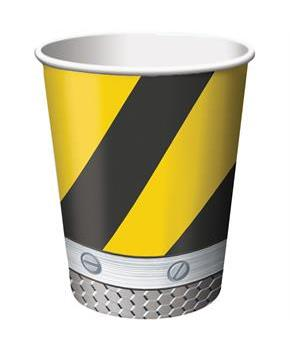 Construction Zone 9oz Cups (8)