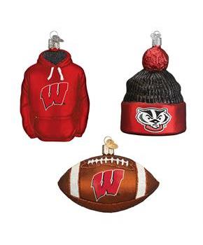 Wisconsin Football Christmas Ornament (3)
