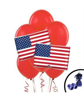 American Flag Jumbo Balloon Bouquet