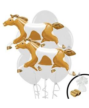 Boys Horse Jumbo Balloon Bouquet - Multi-colored