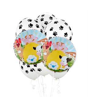 Girls Barnyard 8 pc Balloon Kit - Multi-colored