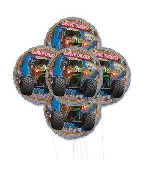 Monster Jam 3D 5pc Foil Balloon Kit 18""