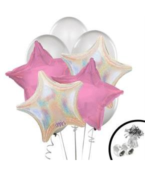 Silver and Pink Balloon Bouquet