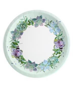 Floral Succulents Dinner Plate (8)