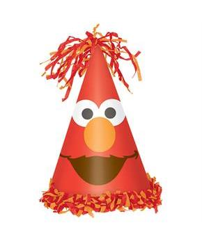 Elmo Deluxe Cone Hat (Each)