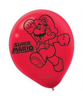 Super Mario Latex Balloons - (6 Pack)