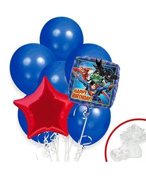 Boys Justice League Balloon Bouquet - Assorted