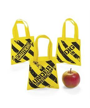 Mini Construction Zone Tote Bags(12)
