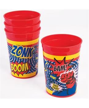 Superhero Plastic Favor Cup(4)