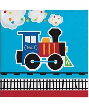 All Aboard Beverage Napkins(16)