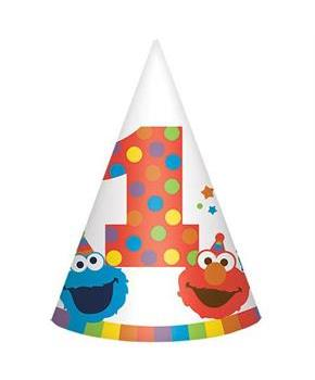 Elmo Turns One Cone Hats(8)