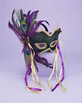 Mardi Gras Feather Couples Mask