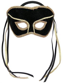 Men's Black Couples Mask - Black - One Size