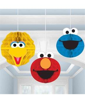 Sesame Street Honeycomb Decorations (3 Count)