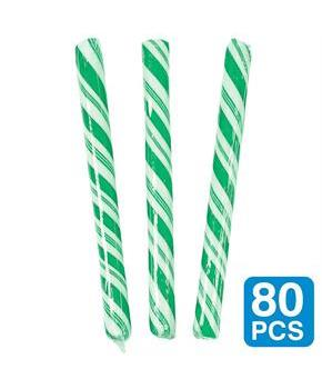 Green Apple 5 Candy Sticks (80 Pack)