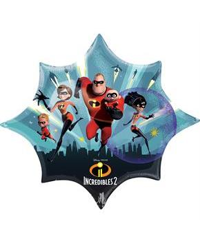 "35"" INCREDIBLES 2 SHAPED FOIL BALLOON - PKG"