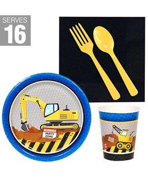 Construction Party Snack Pack for 16