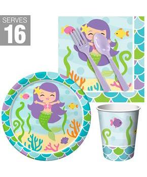 Mermaid Friends Snack Party Pack for 16