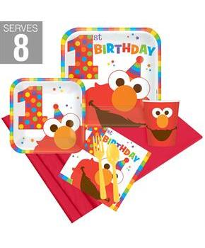 Elmo Turns One Party Pack For 8