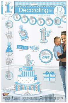 1st Birthday Blue Decorating Kit (10)