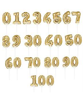 Gold Number 1 Self-Inflating Balloon Cake Topper