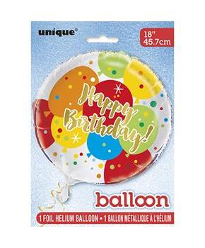 "Glitzy Gold Birthday 18"" Foil Balloon"
