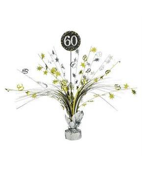 Sparkling Celebration 60th Birthday Centerpiece Spray