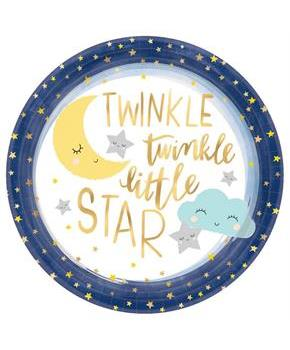 "Twinkle Little Star 10.5"" Lunch Plate (8)"