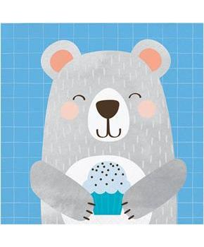 1st Birthday Bear Beverage Napkin (16)