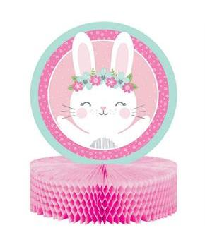 1st Birthday Bunny Honeycomb Centerpiece (1)