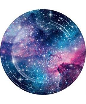 "Galaxy Party Plate 9"" Dinner Plate (8)"