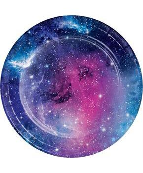 "Galaxy Party Plate 7"" Lunch Plate (8)"