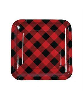 Buffalo Plaid Dinner Plates (8pcs)