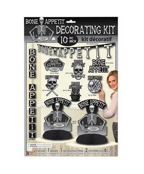 Bone Appetit Themed Decor Kit (10pc)