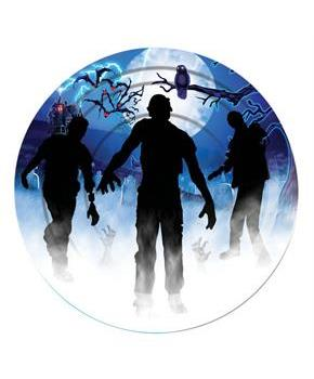 "Zombie Party Decor 9"" Lunch Plate (8)"