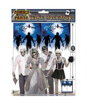 Zombie Party Decor Photo Booth Wall Backdrop 5' x 5'