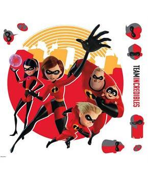Disney Pixar Incredibles 2 - Peel and Stick Giant Wall Decals