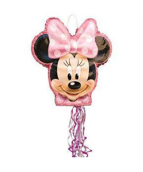 Iconic Minnie Mouse Shaped Drum Pull Pinata